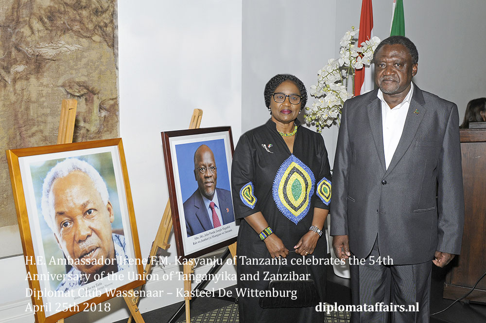 Ambassador Irene F.M. Kasyanju of Tanzania and Mr. Emmanuel E. Kasyanju