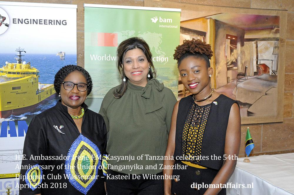 20.jpg Ambassador Irene F.M. Kasyanju of Tanzania, Mrs. Shida Bliek, Ms. Pamela Kasyanju