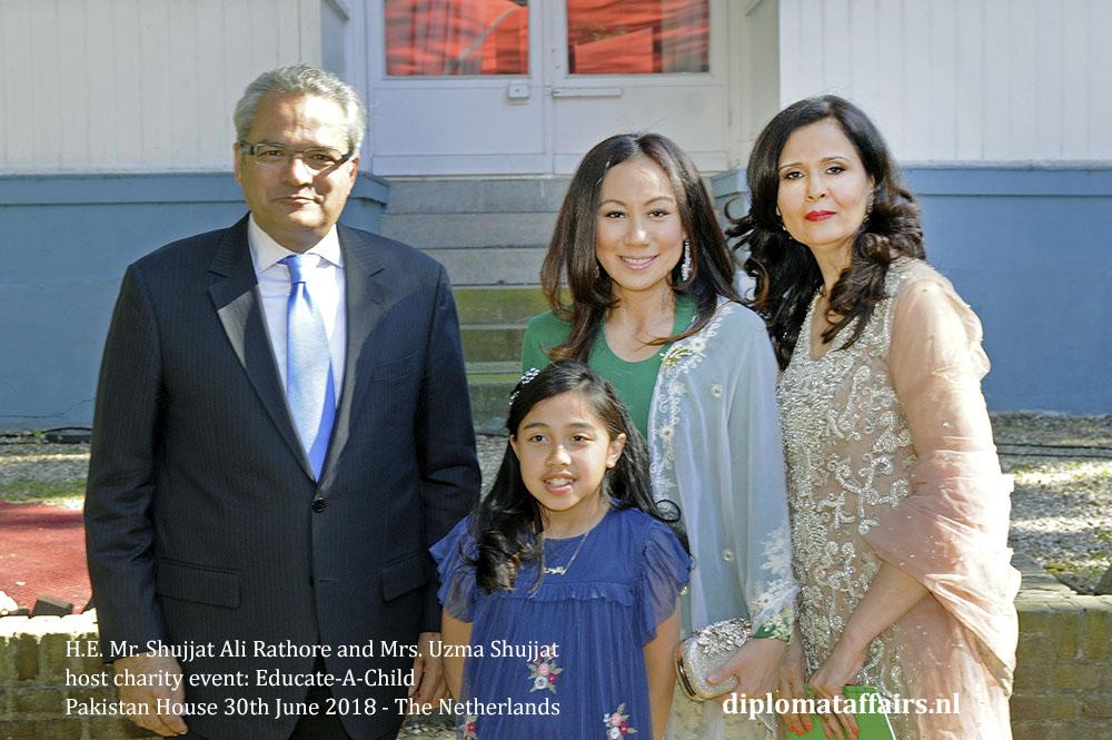 12.jpg Ambassador H.E. Mr. Shujjat Ali Rathore Mrs. Uzma Shujjat host charity event Pakistan House Mrs. Linda Zin diplomataffairs.nl