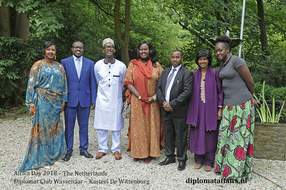 13 .jpg Mrs Rose Sumbeiywo, Chargé d'Affaires of Kenya with guests diplomataffairs.nl