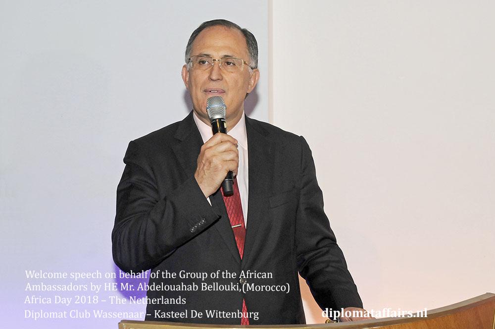 6.jpg African Day 2018 - speech Ambassador Abdel Bellouki Morocco diplomaffairs.nl