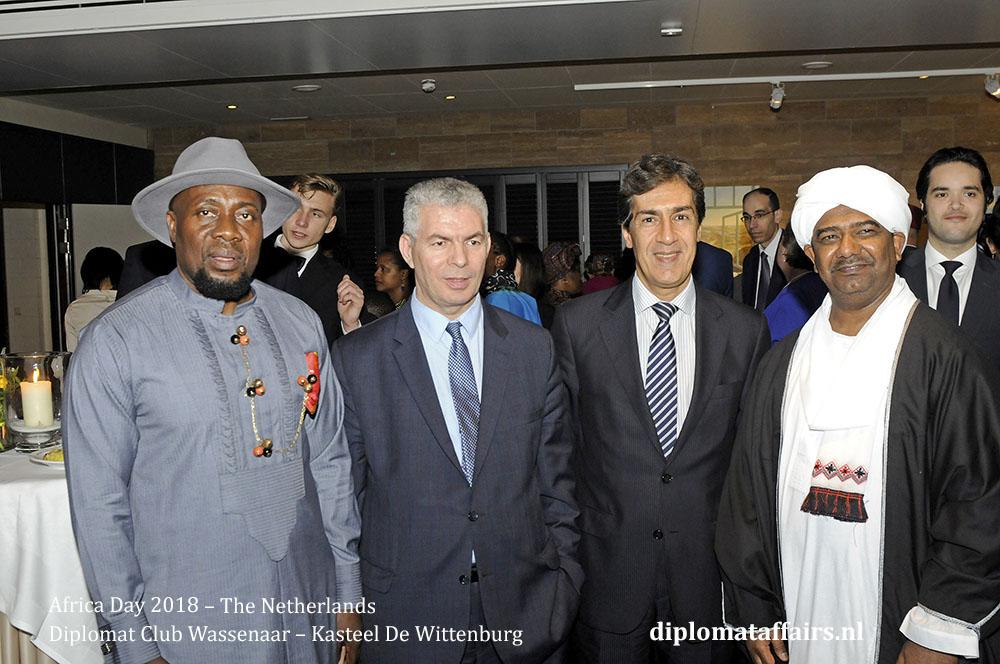8.jpg from left HE Oji Ngofa, Mr Mourad Amokrane, HE Amgad Ghaffar, HE Hassan Ali Hassan diplomataffairs.nl