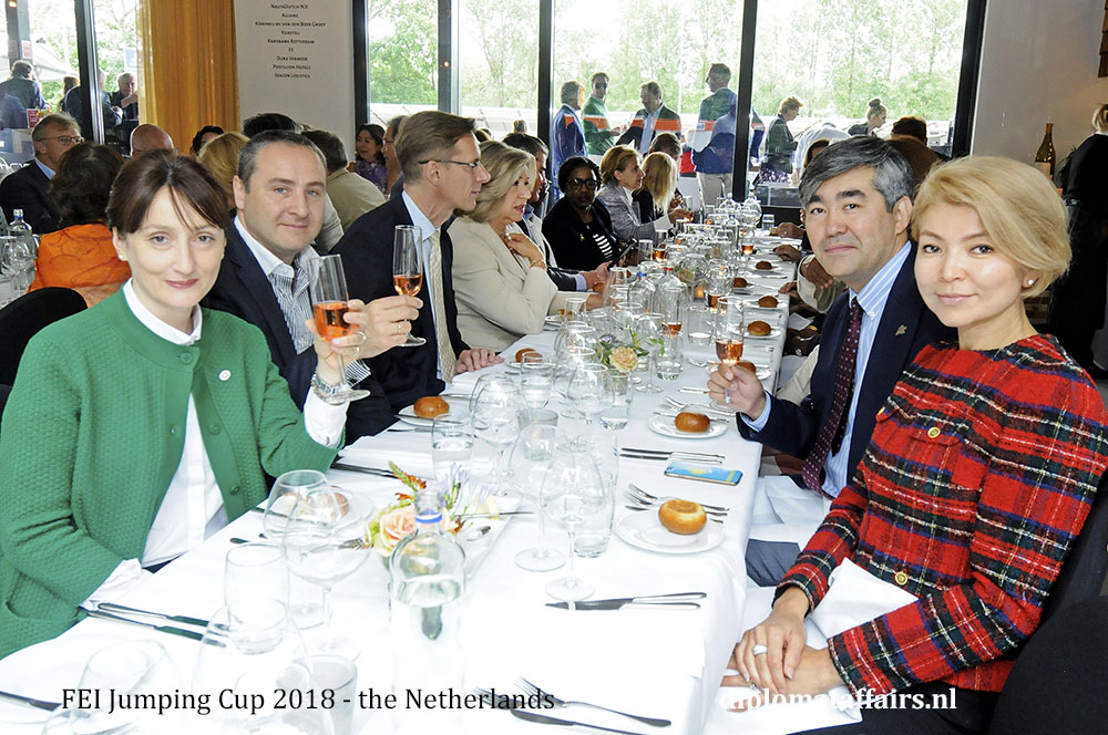 4 A.jpg Mrs. Nino Ruzadze, H.E. Mr. Konstatine Surguladze (Georgia), H.E. Mr. Magzhan Ilyassov, Mrs. Akmaral Aidarbekova (Kazakhstan)