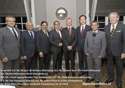 The Ambassador of Indonesia, Mr. I Gusti Agung Wesaka Puja hosts a  farewell dinner for the Ambassador of Belgium, Mr. Chris Hoornaert