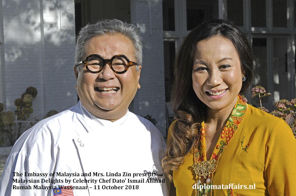 Malaysian Delights Chef Dato' Ismail Ahmad, Mrs Linda Zin Diplomat Affairs Magazine
