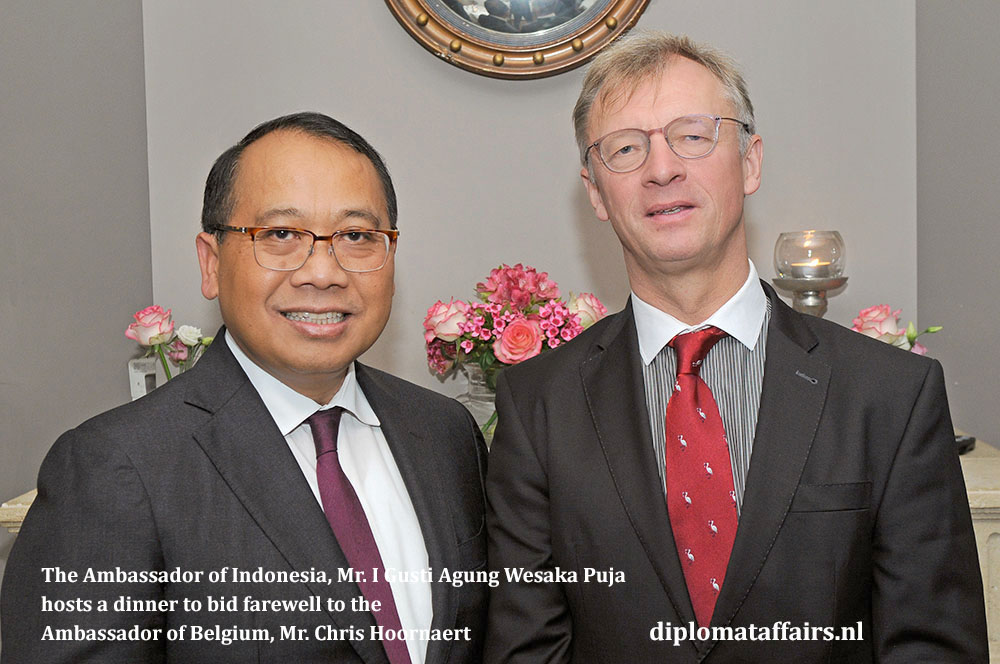 2. Ambassador of Indonesia, Mr. I Gusti Agung Wesaka Puja hosts a dinner to bid farewell to the Ambassador of Belgium, Mr. Chris Hoornaert 30-10-2018