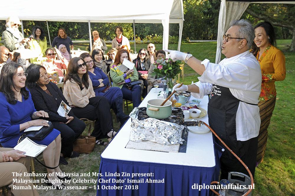 2. Malaysian Delights Chef Dato' Ismail Ahmad, Mrs Linda Zin Diplomat Affairs Magazine