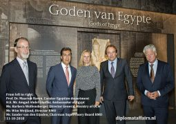 "Ambassador Amgad Ghaffar hails ""The gods of Egypt"" and the relentless efforts of Rijksmuseum van Oudheden"