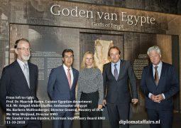 """Ambassador Amgad Ghaffar hails """"The gods of Egypt"""" and the relentless efforts of Rijksmuseum van Oudheden"""