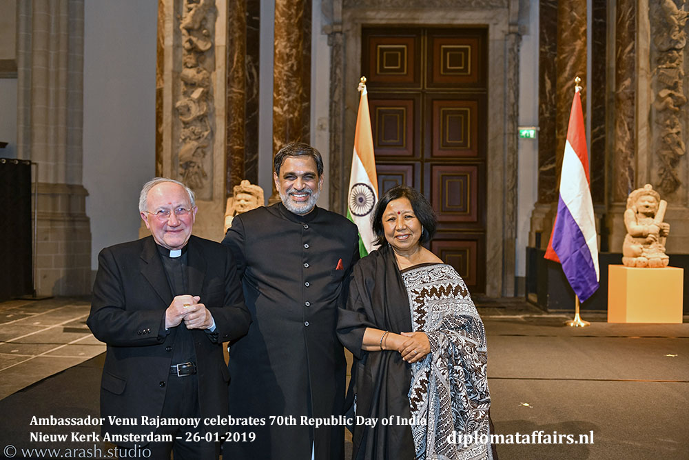 10.jpg Nuncio Mgr. Aldo Cavalli HE Venu Rajamony Dr. Saroj Thapa Diplomataffairs.nl