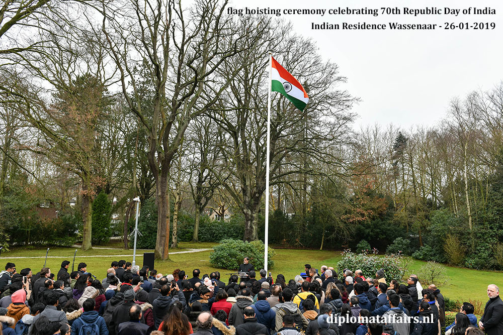 16.jpg Flag hoisting at the Indian Residence in Wassenaar 70th Republic Day of India Diplomat Affairs Magazine