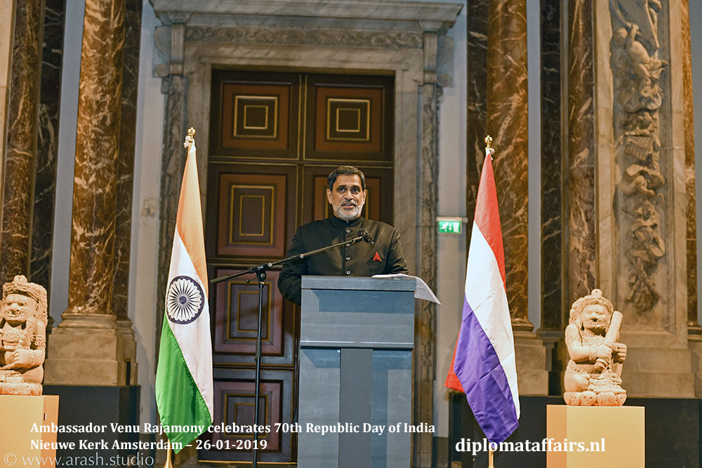 2.jpg Ambassador Venu Rajamony celebrates 70th Republic Day of India Nieuwe Kerk Amsterdam Diplomat Affairs Magazine