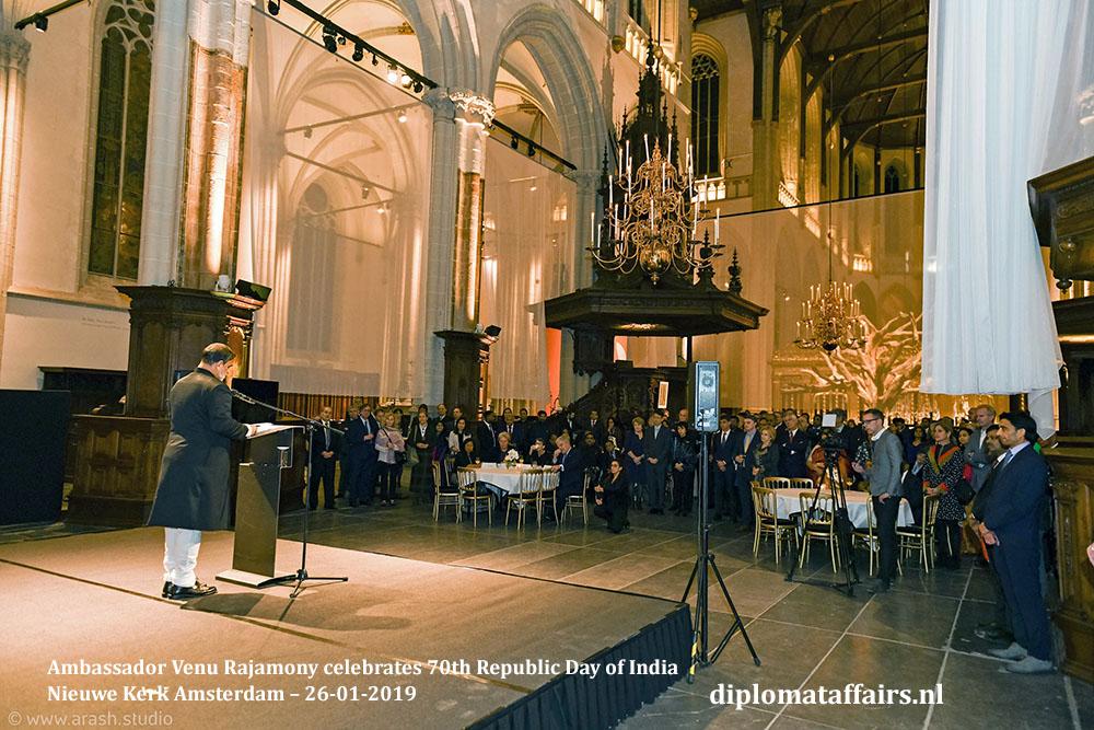 4.jpg Ambassador Venu Rajamony celebrates 70th Republic Day of India Nieuwe Kerk Amsterdam Diplomat Affairs Magazine
