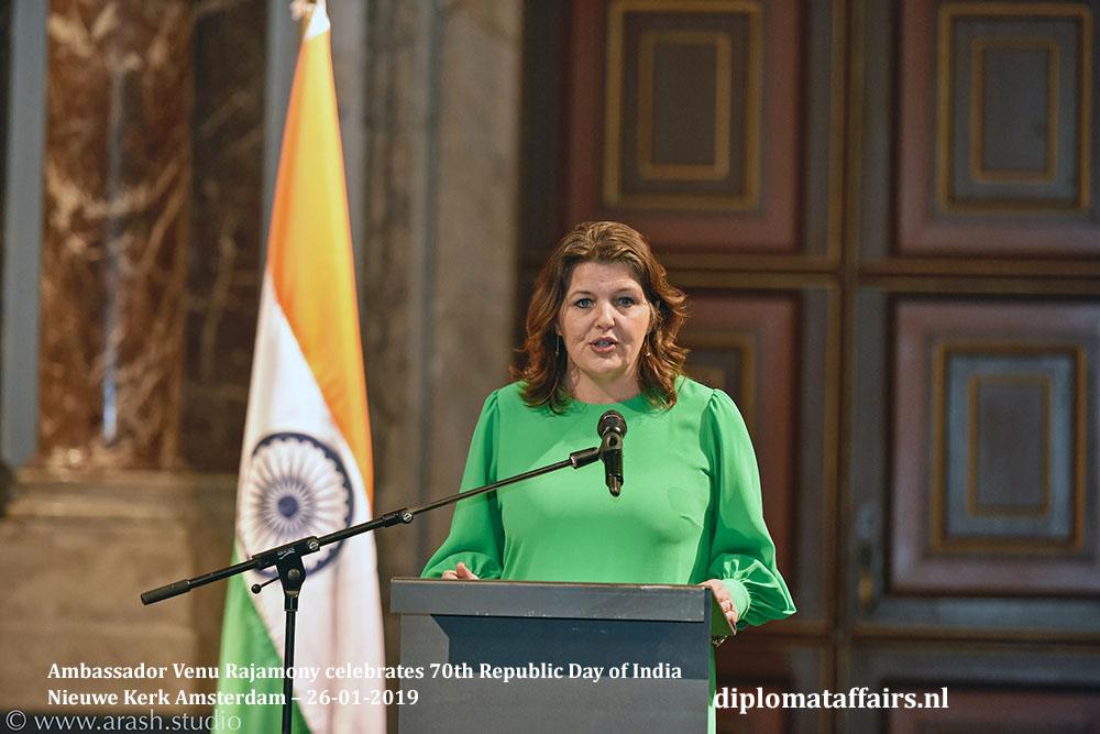 6.jpg Ambassador Venu Rajamony celebrates 70th Republic Day India Mrs. Martine Willemsen Nieuwe Kerk Amsterdam Diplomat Affairs Magazine