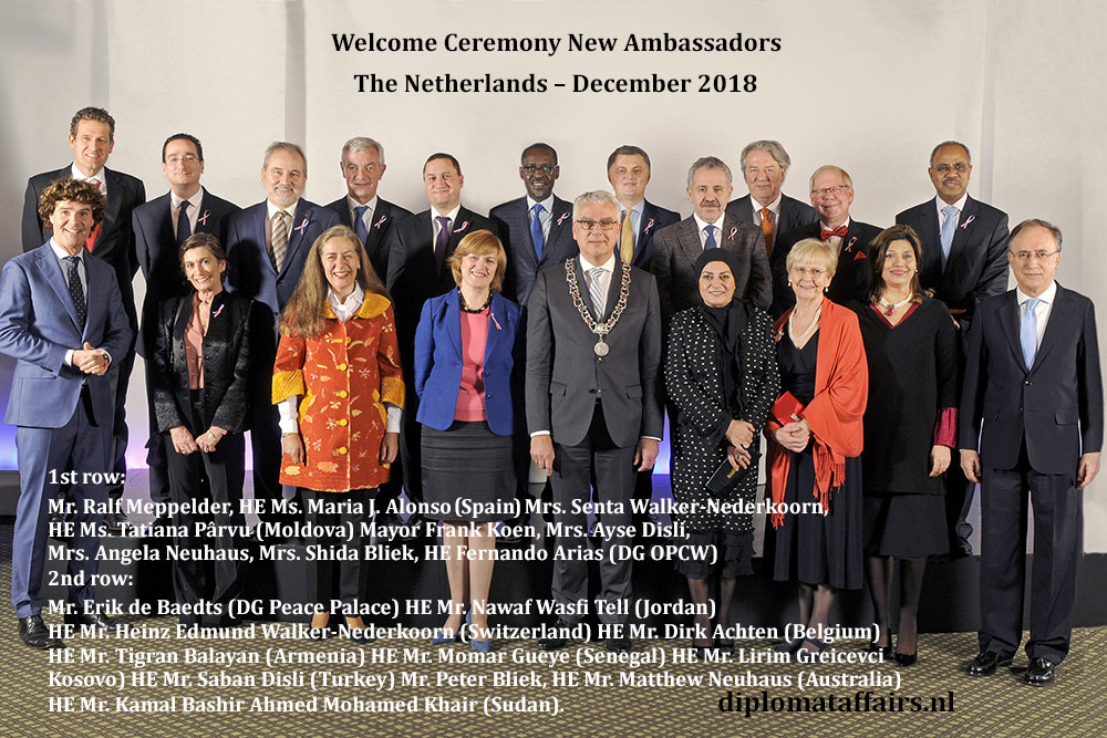 Dutch society welcomes eleven New Ambassadors to Diplomat Club Wassenaar