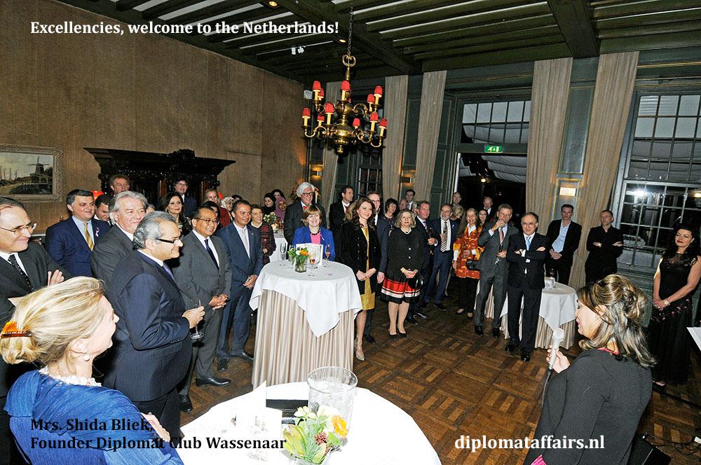 648a.jpg welcome ceremony new Ambassadors by Mayor of Wassenaar and Mrs. Shida Bliek Founder Diplomat Club Wassenaar