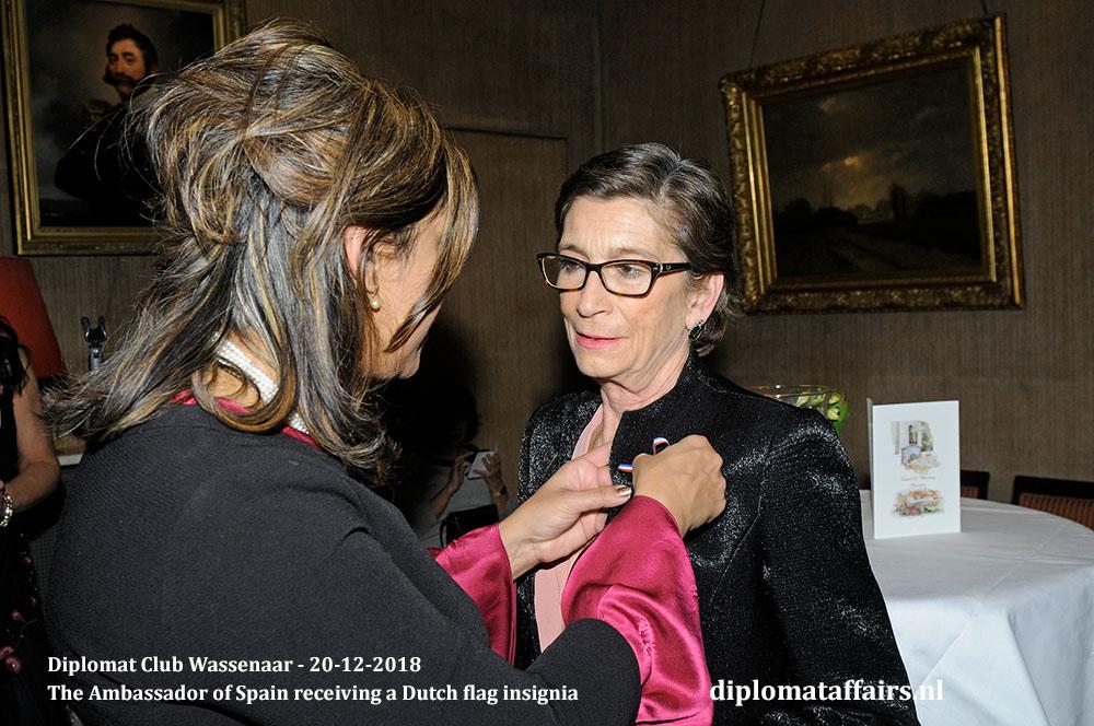 649a.jpg Welcome Ceremony new Ambassadors HE Ms. María J. Alonso (Spain), Mrs. Shida Bliek Diplomat Club Wassenaar Diplomat Affairs Magazine