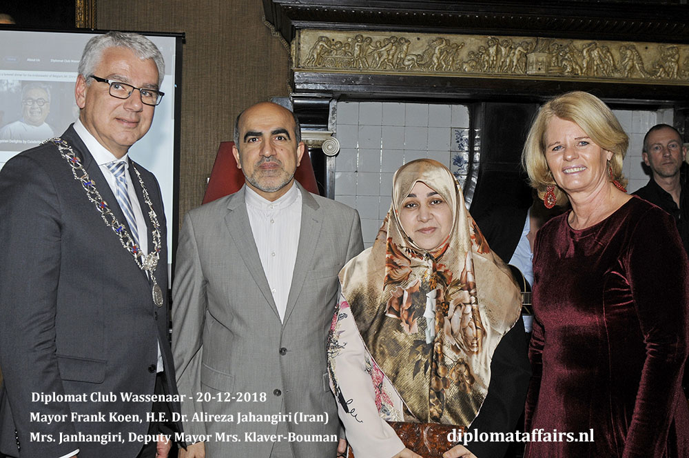 661.jpg Mayor Frank Koen, H.E. Dr. Alireza Jahangiri (Iran), Mrs. Janhangiri, Deputy Mayor Mrs. Klaver-Bouman Diplomat Affairs Magazine