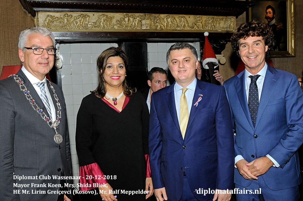 674.jpg Welcome Ceremony new Ambassadors Mayor Frank Koen, Mrs. Shida Bliek, HE Mr. Lirim Greiçevci (Kosovo), Mr. Ralf Meppelder Diplomat Affairs Magazine