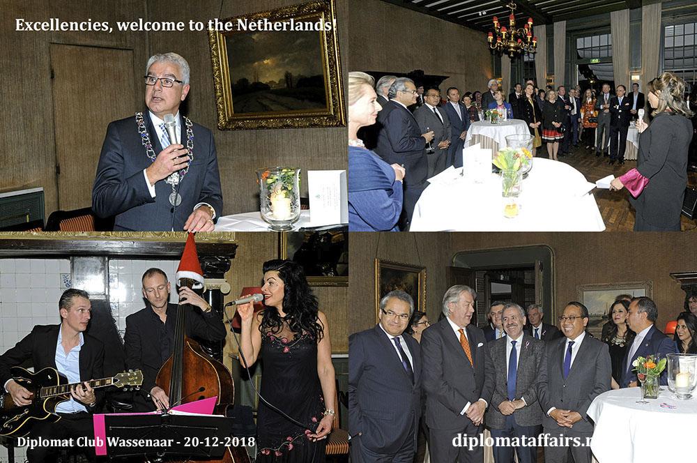 695.jpg Welcome Ceremony New Ambassadors hosted by Mayor Frank Koen and Mrs. Shida Bliek President Diplomat Club Wassenaar Diplomat Affairs Magazine