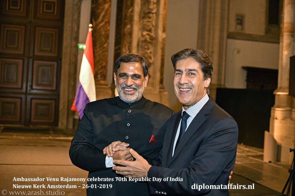 9.jpg HE Venu Rajamony HE Amgad Ghaffar Ambassador of Egypt Diplomat Affairs Magazine