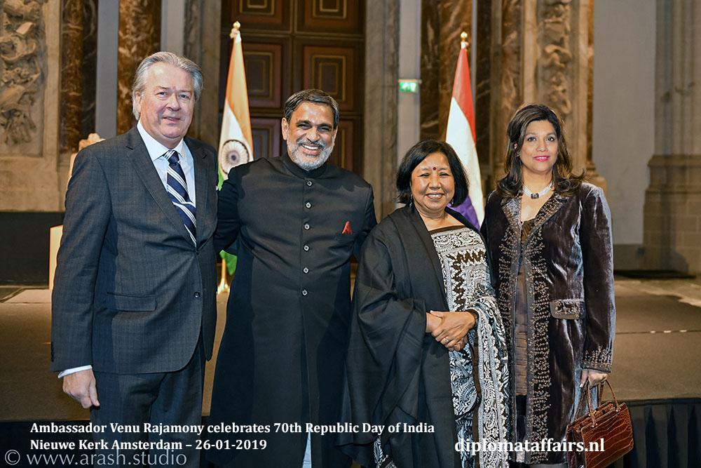 11c.jpg Mr. Peter Bliek, President of TenRande Foundation, HE Venu Rajamony, Dr. Saroj Thapa and Mrs. Shida Bliek Diplomat Affaris Magazine
