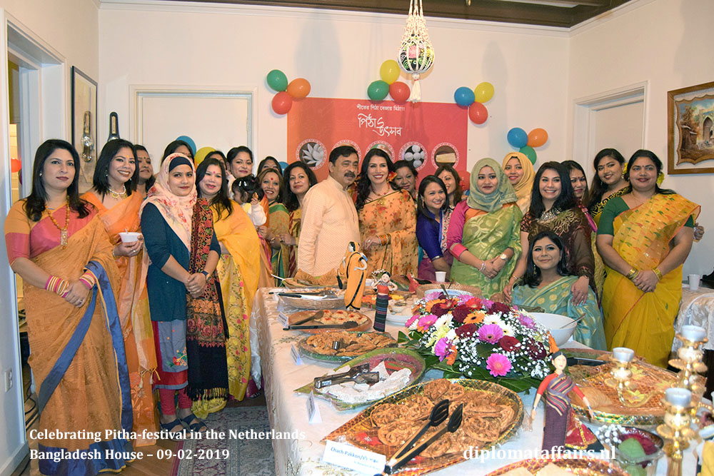2. Ambassador Sheikh Mohammed Belal and Dr Dilruba Nasrin Celebrating Pitha-festival in the Netherlands Diplomat Affairs Magazine