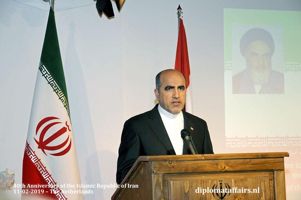 2. H.E. Dr Alireza Jahangiri celebrates the 40th anniversary of the Islamic Republic of Iran Diplomat Affairs Magazine