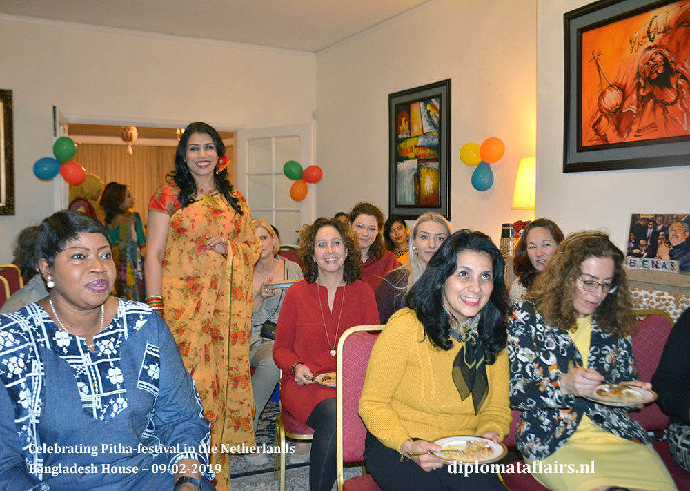 3. Ambassador Sheikh Mohammed Belal and Dr Dilruba Nasrin Celebrating Pitha-festival in the Netherlands Diplomat Affairs Magazine