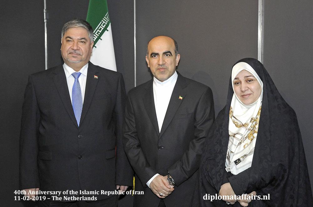 4. H.E. Dr. Hisham Al-Alawi Ambassador of Iraq, H.E. Dr Alireza Jahangiri and Mrs. Janhangiri Diplomat Affairs Magazine