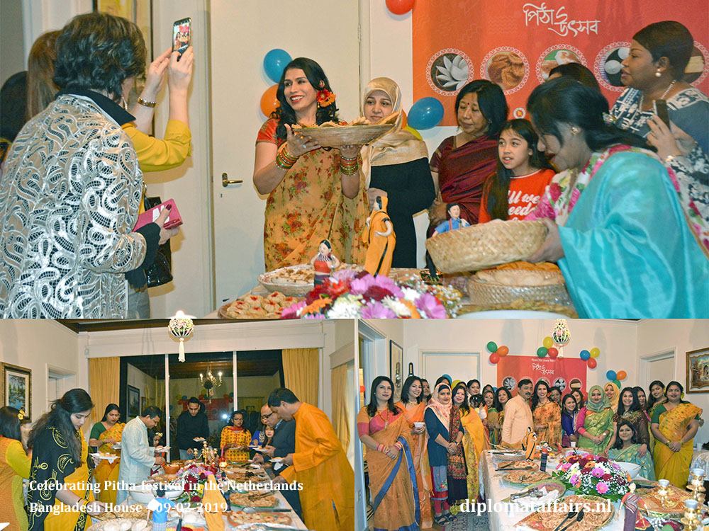 5. Ambassador Sheikh Mohammed Belal and Dr Dilruba Nasrin Celebrating Pitha-festival in the Netherlands Diplomat Affairs Magazine