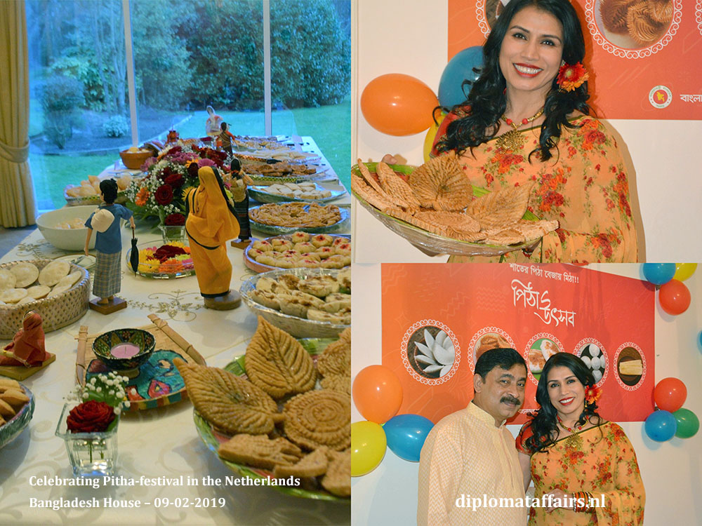 8. Ambassador Sheikh Mohammed Belal and Dr Dilruba Nasrin Celebrating Pitha-festival in the Netherlands Diplomat Affairs Magazine