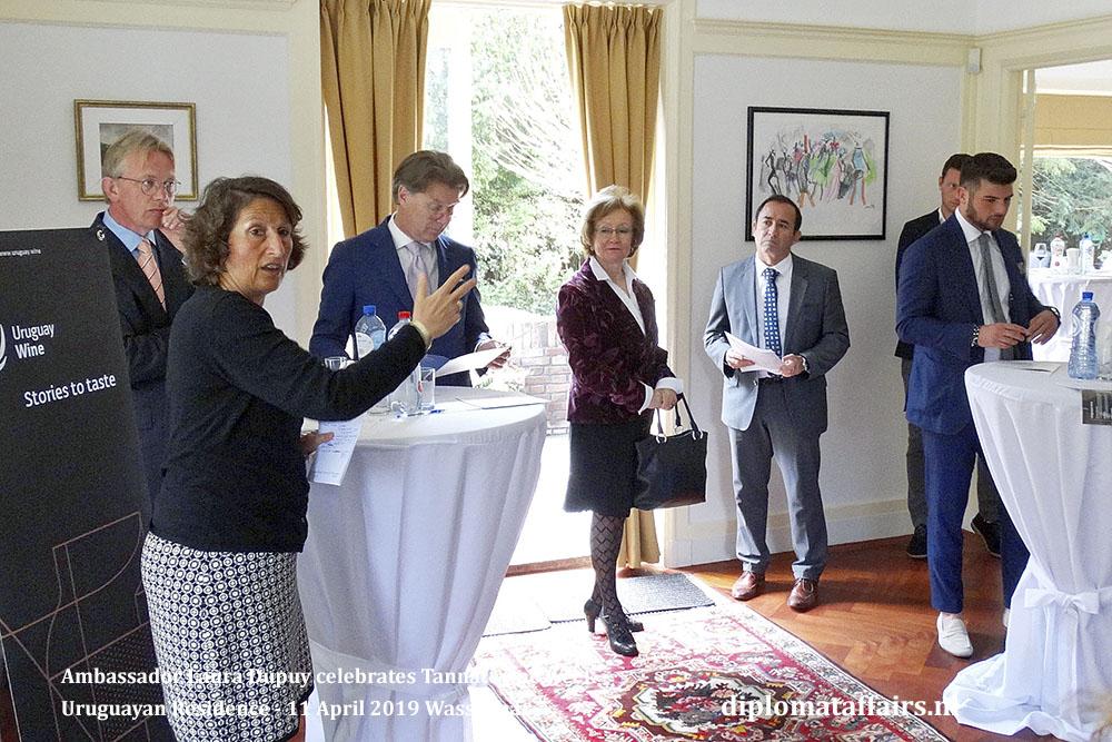 2. Ambassador Laura Dupuy celebrates Tannat wine week Uruguayan Residence - 11 April 2019 Wassenaar