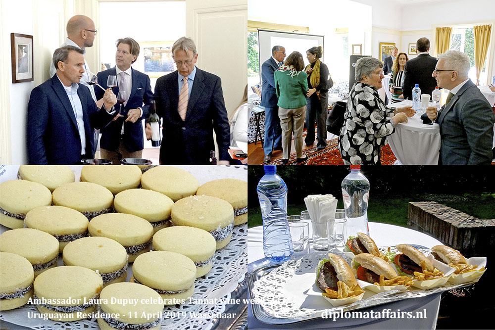 3. Ambassador Laura Dupuy celebrates Tannat wine week Uruguayan Residence - 11 April 2019 Wassenaar