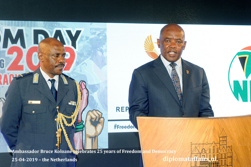 Ambassador Bruce Koloane celebrates 25 years of Freedom and Democracy 25-04-2019 – the Netherlands Diplomat Affairs Magazine