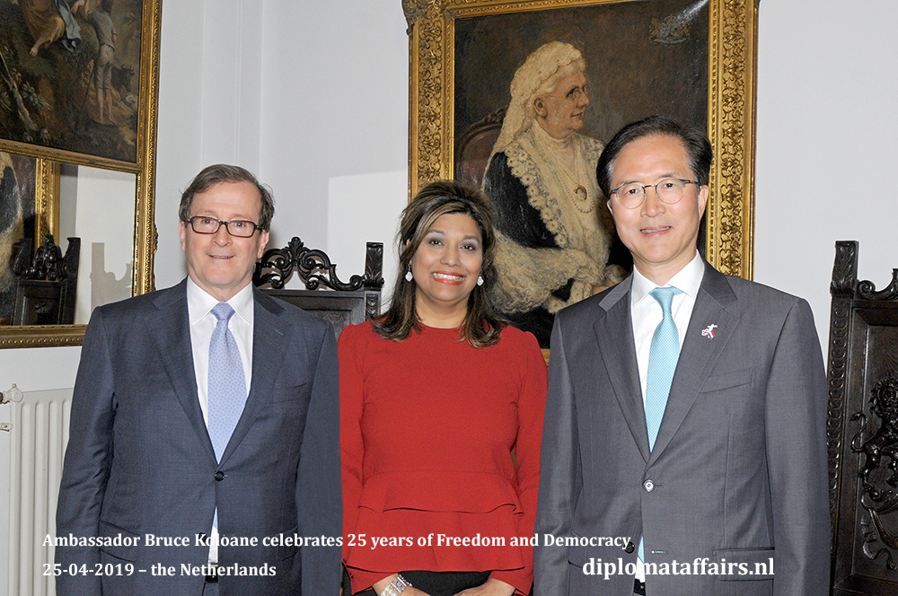 11a. From left to right, H.E. Mr. H. Horacio Salvador Ambassador of Argentina, Mrs. Shida Bliek Founder Diplomat Club Wassenaar, H.E. Mr. Yun Young Lee Ambassador of South Korea