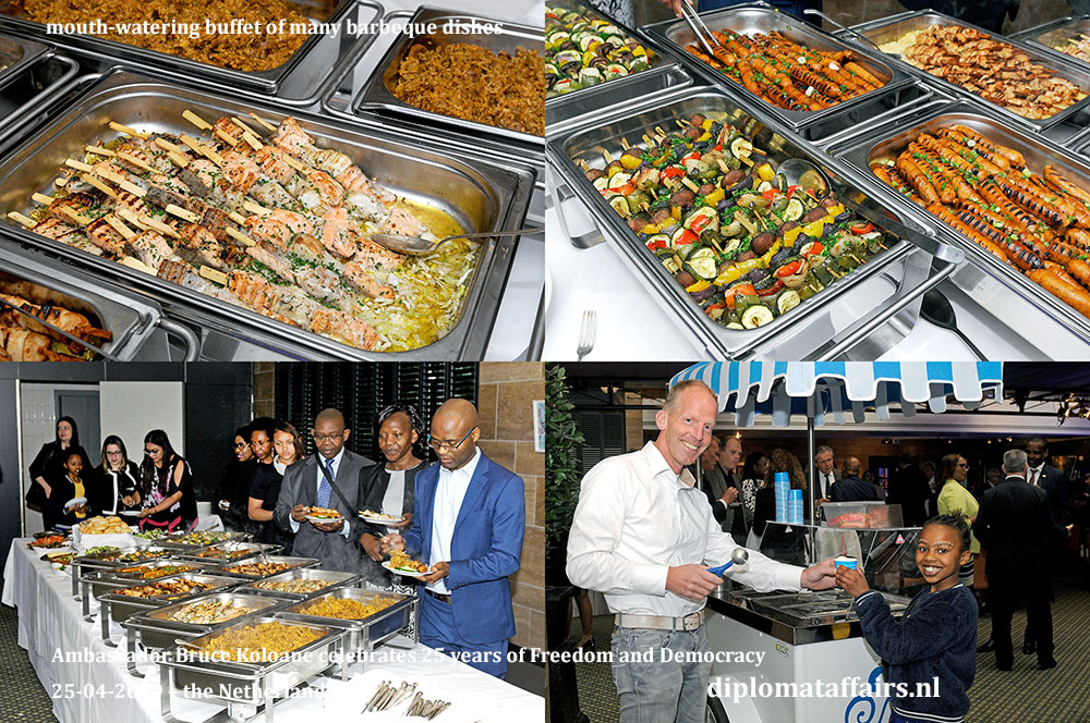 14. Mouth-watering buffet and exotic Ice cream at celebration National Day South Africa, 25 April 2019 Diplomat CLub Wassenaar