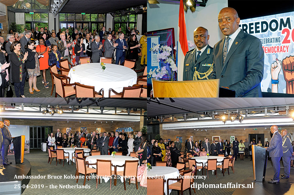 3. Ambassador Bruce Koloane celebrates 25 years of Freedom and Democracy 25-04-2019 – the Netherlands Diplomat Affairs Magazine