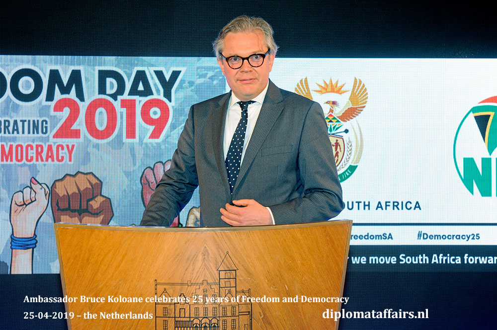 5a. Ambassador Bruce Koloane celebrates 25 years of Freedom and Democracy 25-04-2019 – the Netherlands Diplomat Affairs Magazine