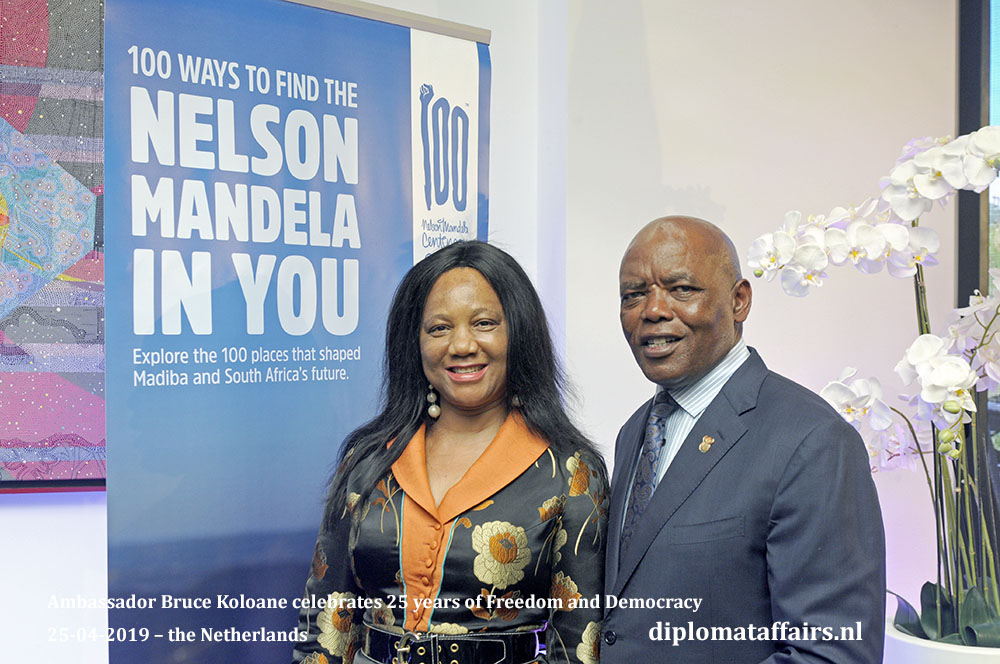 5d. Ambassador of South Africa H.E. Mr. Bruce Koloane and Mrs. Ntokozo Koloane