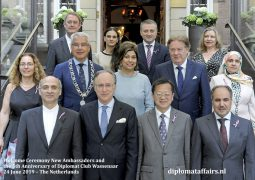 Celebrating our 11th Welcome Ceremony for newly arrived Ambassadors and the 5th Anniversary of Diplomat Club Wassenaar