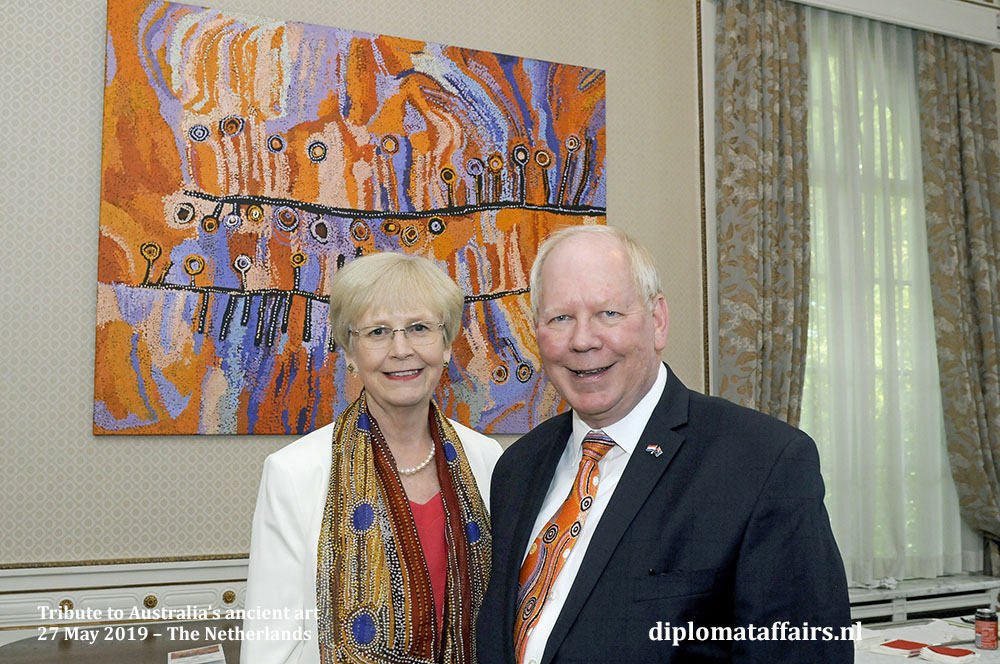 The ambassador of Australia to the Kingdom of the Netherlands, H.E. Mr. Matthew Neuhaus and Mrs. Angela Neuhaus