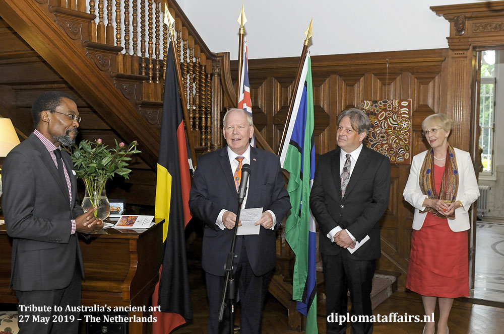 2. from left to right, H.E. Mr. Chile Eboe Osuji, H.E. Mr. Matthew Neuhaus, Dr. Georges Petitjean, Mrs. Angela Neuhaus