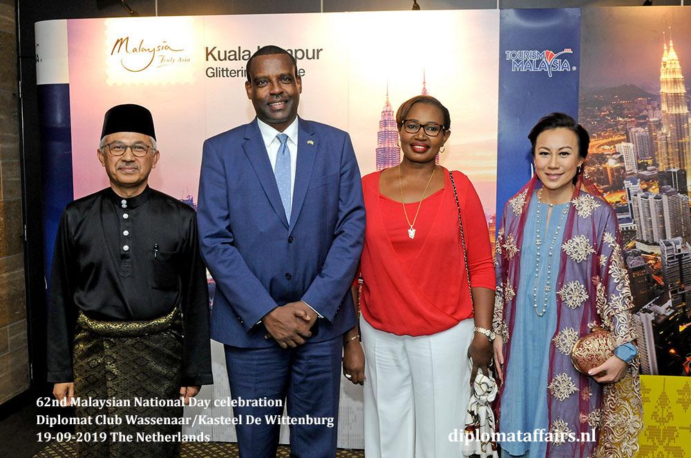 10a. jpg H.E. Dato' Ahmad Nazri bin Yusof and Mrs. Linda Zin with H.E. Mr. Jean-Pierre Karabaranga (Rwanda) Diplomat Affairs Magazine