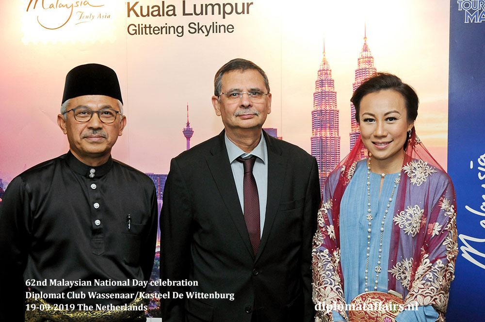 12. jpg H.E. Dato' Ahmad Nazri bin Yusof, H.E. Mr Elyes El Ghariani (Tunisia) and Mrs. Linda Zin Diplomat Affairs Magazine