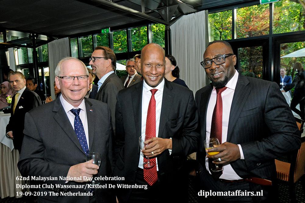 14. jpg H.E. Mr. Matthew Neuhaus (Australia) H.E. Mr. Lauwrence Lenayapa (Kenya), H.E. Mr. Oji Ngofa (Nigeria) Diplomat Affairs Magazine