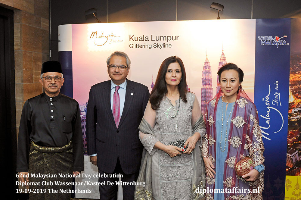 4. jpg In the middle, Ambassador of Pakistan H.E. Mr. Shujjat Ali Rathore and Mrs. Uzma Shujjat Diplomat Affairs Magazine