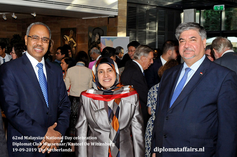 6. jpg from left to right, H.E. Mr. Hassan Ali Hassan (Sudan), H.E. Dr. Hissa Abdulla Ahmed Alotaiba (UAE), H.E. Dr Hisham Al-Alawi (Iraq)