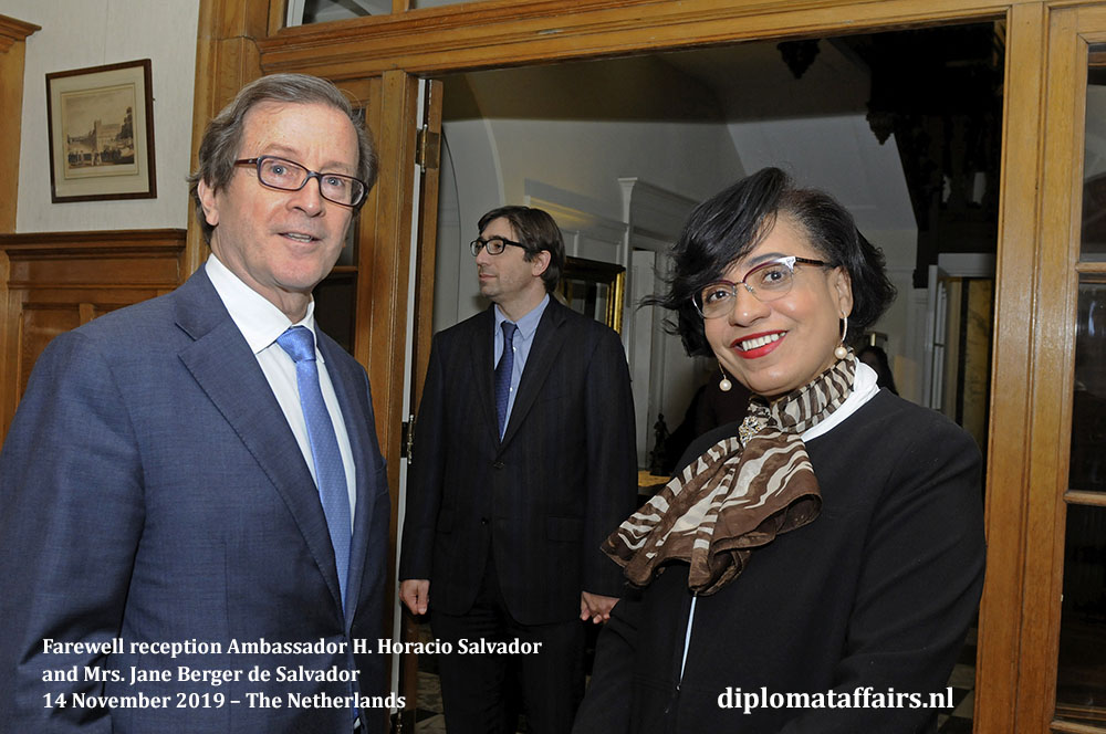 292a.jpg from left to right, H.E. Mr. H. Horacio Salvador and the Ambassador of Angola, H.E.Mrs Maria Isabel Gomes Godinho de Resende Encoge Diplomat Affairs Magazine