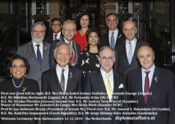 Mayor Leendert de Lange and Dutch society welcome seven new Ambassadors at Diplomat Club Wassenaar/Kasteel De Wittenburg